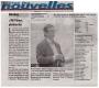 Réaction sur l'article de presse – Toutes les Nouvelles –26/03/14